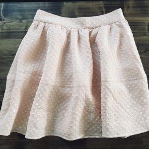 EXPRESS Pink Petal Ballet Textured Blush Skirt